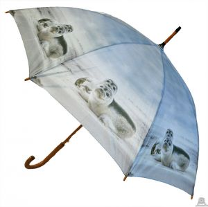 Stoere paraplu met zeehond 100 cm