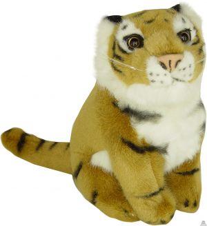 Zittende pluche tijger beide van 22 CM.