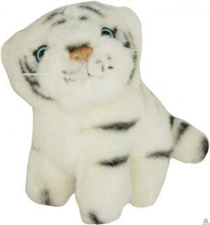 Zittende pluche tijger beide van 14 CM.