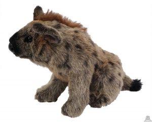 Zittende pluche hyena beide van 22 CM.