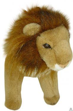 Staande pluche leeuw beide van 30 CM.