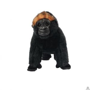 Staande pluche gorilla beide van 20 CM.