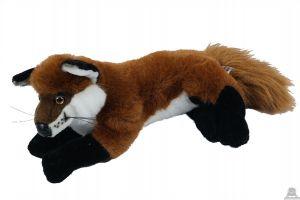 Liggende pluche vos. De knuffel is geschikt voor zowel een jongen als meisje van 32 CM.