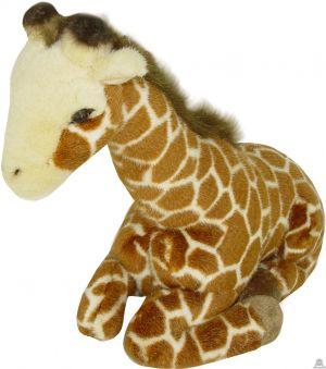 Liggende pluche giraffe beide van 26 CM.