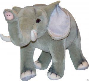 Staande pluche olifant beide van 48 CM.