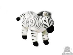 Staande pluche zebra beide van 36 CM.