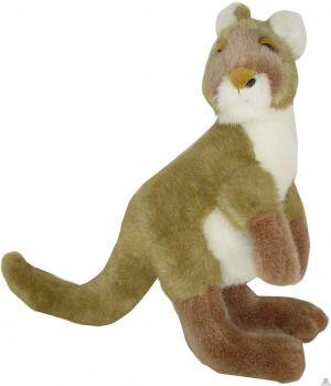 Staande pluche kangoeroe beide van 30 CM.
